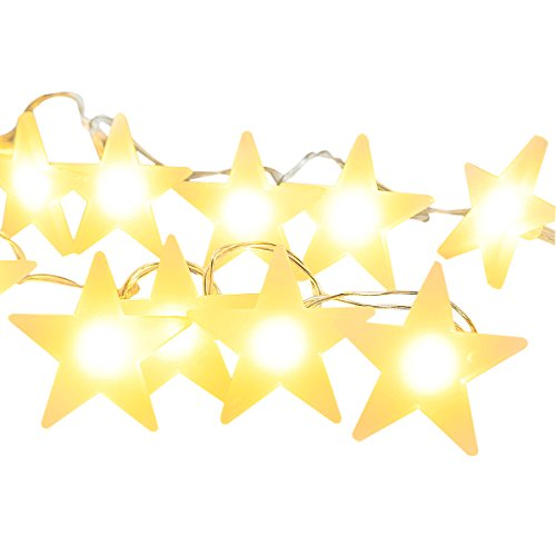 Cmyk® Battery Operated Indoor Fairy Lights 20 Led Stars String Festoon Party Lighting Warm White for Patio Christmas Wedding Bedroom