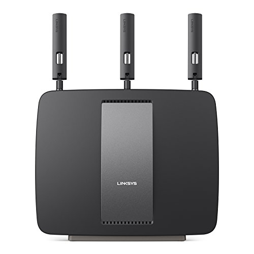 Linksys AC3200 Tri-Band Smart Wi-Fi Router with Gigabit and USB, Designed for Device-Heavy Homes, Smart Wi-Fi App Enabled to Control Your Network from Anywhere (EA9200) (Ac Tri Band Router compare prices)