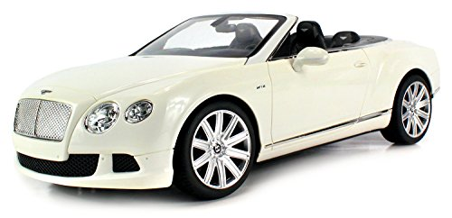 Velocity Toys Licensed Bentley Continental Gt Speed Convertible Electric Remote Control Car Big 1:12 Scale Ready To Run Rtr (Colors May Vary)