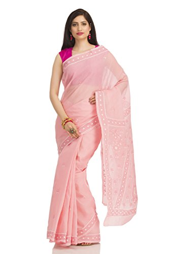 ADA-Lucknow-Chikankari-Hand-Embroidered-Designer-Ethnic-Cotton-Saree-With-Blouse-A116045