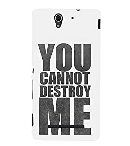 Good Attitude Quote 3D Hard Polycarbonate Designer Back Case Cover for Sony Xperia C3 Dual :: Sony Xperia C3 Dual D2502
