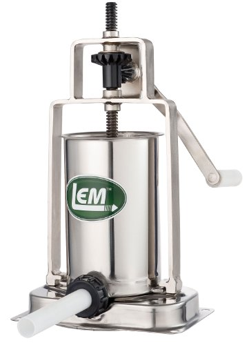 LEM Products 5 Pound Stainless Steel Vertical Sausage Stuffer (Lem Manual Meat Grinder compare prices)