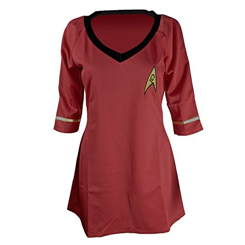 Women's Costume Star Trek Dress Half-sleeves Embroidery Badge