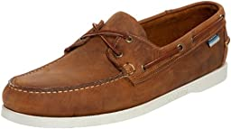 Sebago Men\'s Docksides Boat Shoe,Brown/White,7 M US