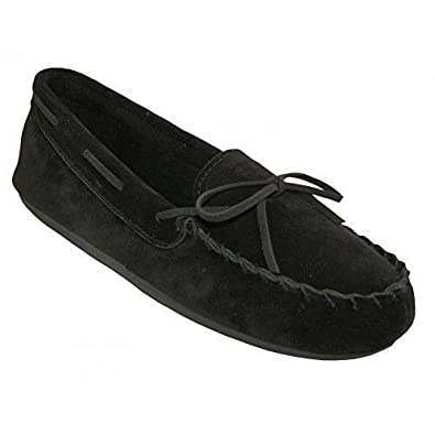 Women's Black Moccasins - Indoor and Outdoor Slippers - Flats W080003 (11)