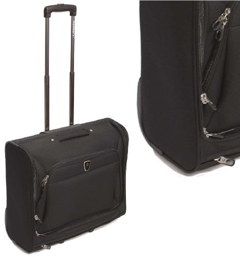 2-4 Piece Suits Dresses Garment Suit Carrier Wheeled Cabin Case Business Bag Black Suiter