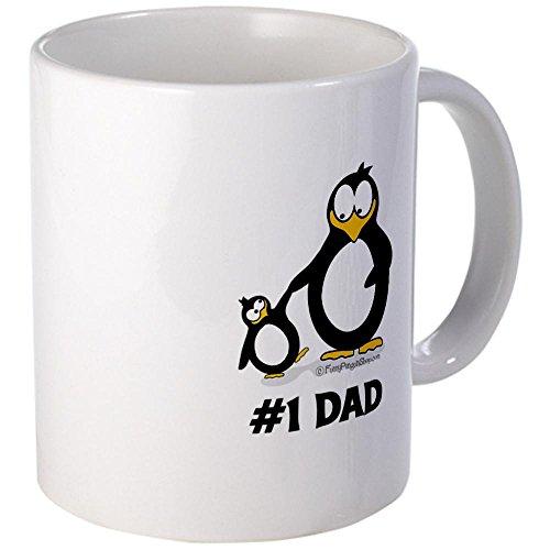 Cafepress Number 1 Dad Penguin Mug - Mega White
