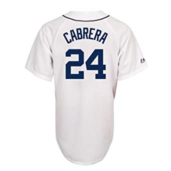 Miguel Cabrera Detroit Tigers Replica Home Jersey (White,X-Large)