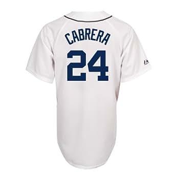 Miguel Cabrera Detroit Tigers Replica Home Jersey (White,Small)