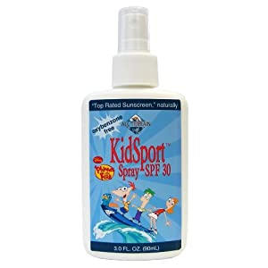 All Terrain KidSport SPF30 Oxybenzone-Free Natural Sunscreen Spray- Disney Phineas and Ferb (3-Ounce)