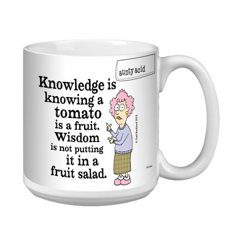 Tree-Free Greetings Xm27853 Aunty Acid Artful Jumbo Mug, 20-Ounce, Fruit Salad