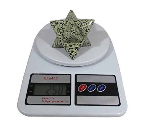 Dalmatian Jasper Merkaba Star Large Crystal Sacred Geometry Reiki Point 8 Healing