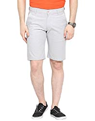Grey Horizontal Stripe Shorts 32