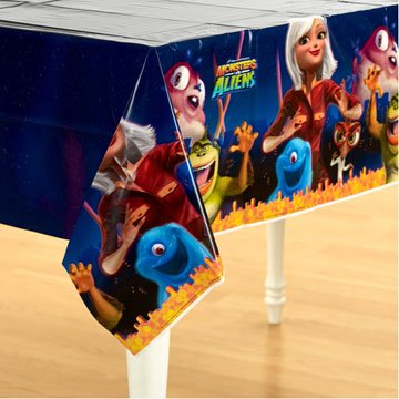 Monsters vs Aliens 54in x 102in Paper Tablecover - 1
