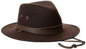 Henschel Men's Outback Oilcloth Hat, Dark Brown, Medium