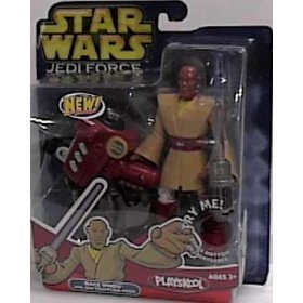 Star Wars Jedi Force Mace Windu Action Figure By Playskool
