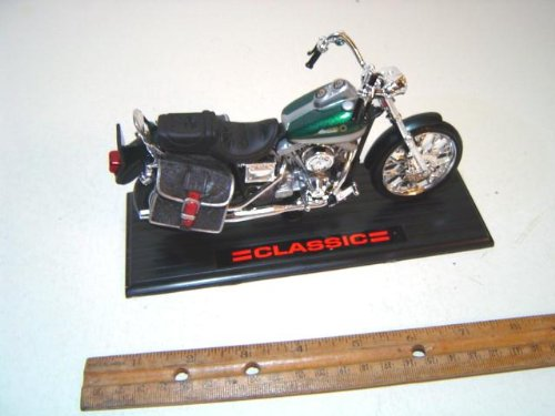 Classic Motorcycle 010 Scale 1:13 Green Diecast