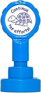 Teacher Stamps BR029CM Tampon Auto-encreur pour Enseignant Continue tes efforts Couleur aléatoire
