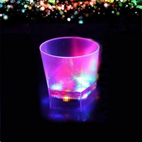 Xcellent Global Multi-color Flashing LED Light Cups Water/Beer/Cola Mug Cup for Bar Party Romantic Drinking Gift, 6.5oz HG114