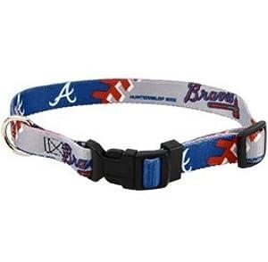 DoggieNation 310352 Medium Atlanta Braves Dog Collar