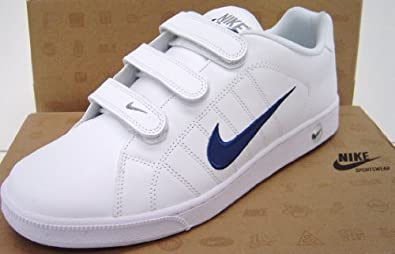 nike mens trainers size uk 12 eu 47 white leather court