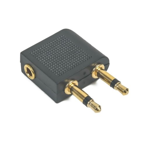3.5 Mm To 2 X 3.5 Mm Airplane Airline Travel Headphone Jack Audio Adapter