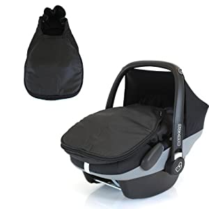 carseat footmuff to fit maxi cosi pebble black amazon. Black Bedroom Furniture Sets. Home Design Ideas