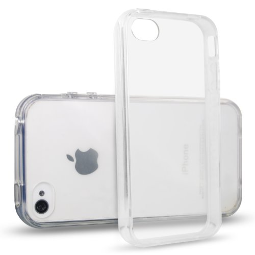 JETech® iPhone 4/4S Case Coque Housse Etui Shock-Absorption Bumper et Anti-Scratch Effacer Back pour Apple iPhone 4 4S (Crystal Clear)