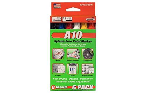 U-Mark 10150 A10 Color Assortment Paint Marker Set