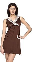 Texco Garments Women's A-Line Dress (5, Chocolate Brown, XL)