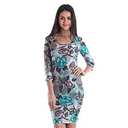 Cozer Creation Floral Printed western wear Grey Skirt Dress Material