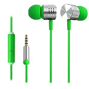 D'clair Premium Mi Earphone Headset Earbud Mic for Acer Liquid Z630 (Green)