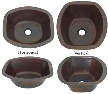 RRBV16 Inch Hammermarc Copper Bar/Prep Rectangle Sink