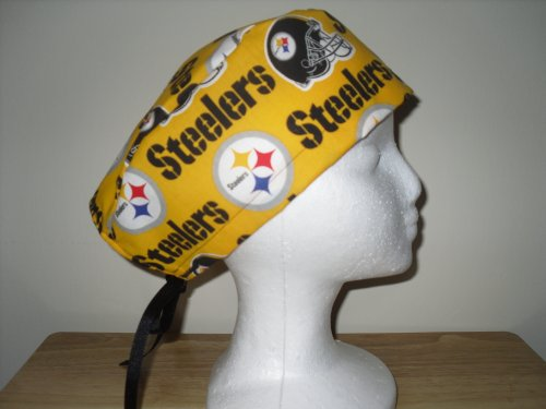 Men's Surgical Scrub Cap, Hat Pittsburgh Steelers NFL Yellow