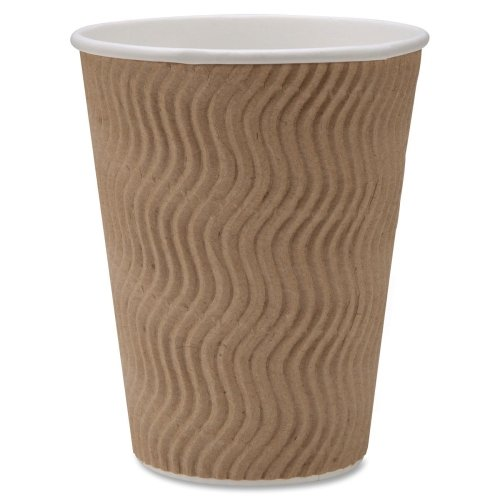 Genuine Joe Gjo11260Pk Insulated Ripple Hot Cup, 12-Ounce Capacity (Pack Of 25)