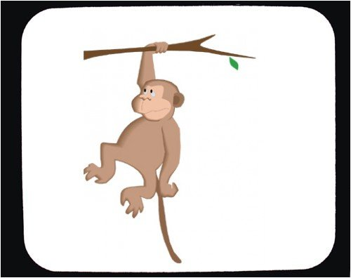 Buy Mouse Pad with cartoons, monkey, hanging, cartoon, branch, animal