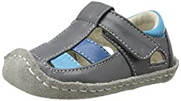 See Kai Run Luke II Sandal (Infant), Gray, 0-6 Months M US Infant