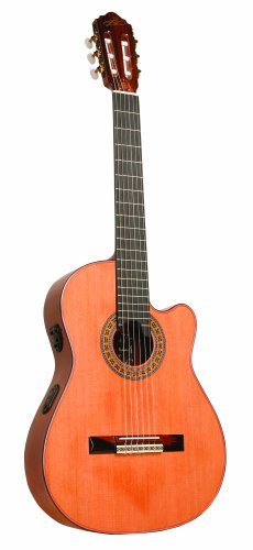 best buy giannini gwncppm handcrafted series thin body cutaway guitar acoustic electric nylon. Black Bedroom Furniture Sets. Home Design Ideas