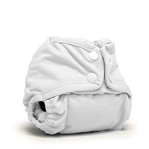 Rumparooz Newborn Cloth Diaper Cover Snap, White