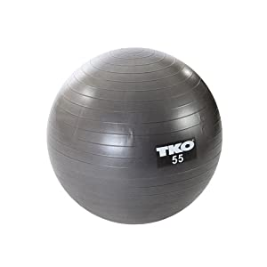 TKO Anti-Burst Fitness Ball (55cm) with Pump and Instruction Chart
