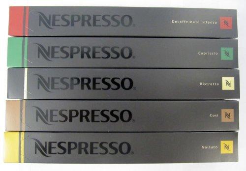 Nespresso Capsules Mixed Flavors 50g (pack of 5) (Nespresso Cosi Capsules compare prices)