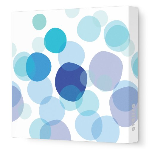 """Avalisa Stretched Canvas Nursery Wall Art, Bubbles, Blue, 12"""" X 12"""" front-1036675"""