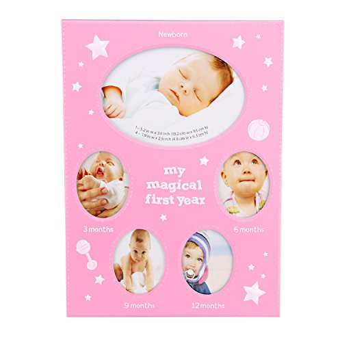 Valdler Durable Baby Picture Frame Photo Frame for Desktop Display (Pink)