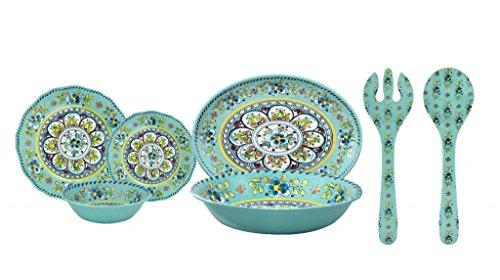 Le Cadeaux Madrid 16 Piece Melamine Dinnerware Set