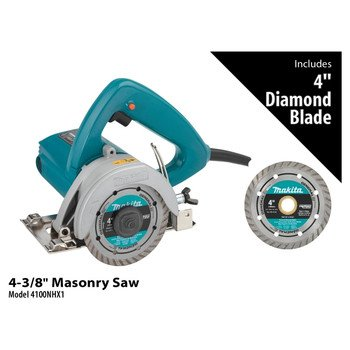 Makita 4100NHX1 4-3/8-Inch Masonry Saw With 4 inch Diamond Blades
