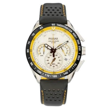 White Easy To Read Dial Pulsar Men's WRC Chronograph Sports Watch