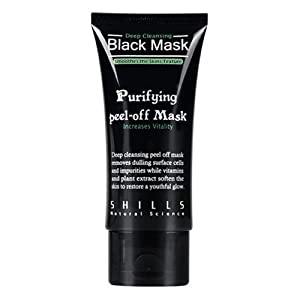 Peel-off Facial Mask - SHILLS 50 ML Deep Sea Mineral Mud Nose Blackhead Removal Pore Cleaner Cleansing Membrane Mask face mask (Black)