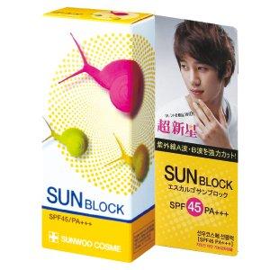 エスカルゴ サンブロック SPF45 PA+++ escargot Sun Block
