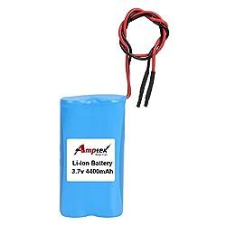 AMPTEK 3.7V 4400mAh Li-Ion Battery Pack