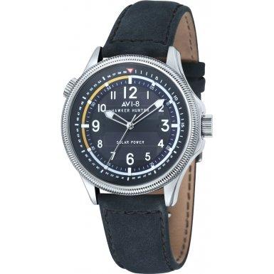 AVI-8 AV-4018-03 Mens Hawker Hurricane Dark Blue Leather Strap Watch